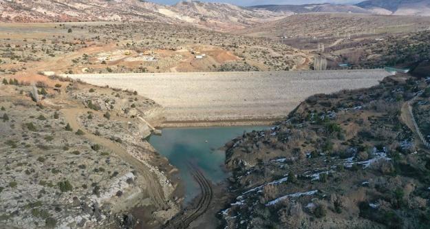Gelin dileği barajı tamamlandı