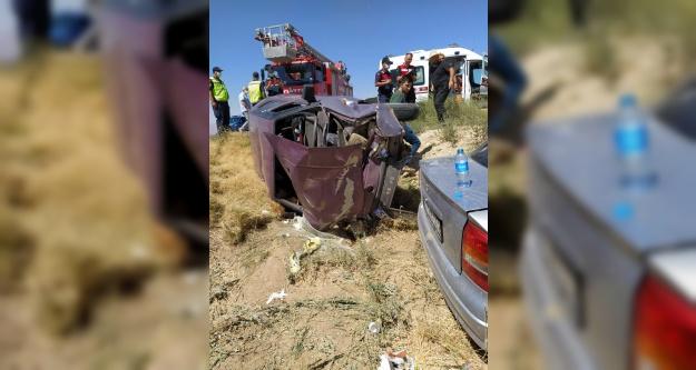 İki Otomobil Çarpıştı 7 yaralı