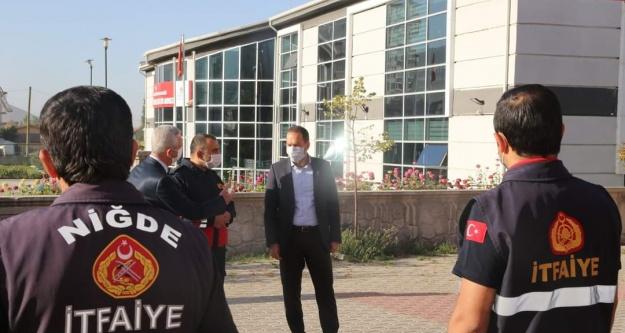 """Başkan Özdemir'den 'İtfaiye Haftası"""" Ziyareti"""