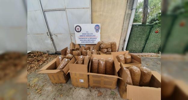 Niğde'de 330 kilo kaçak tütün ele geçirildi
