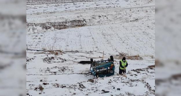 Yoldan Çıkan Araçta 2 Kişi Öldü