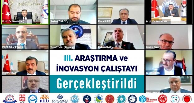 Üniversite de 3. Araştırma ve İnovasyon Çalıştayı Gerçekleştirildi