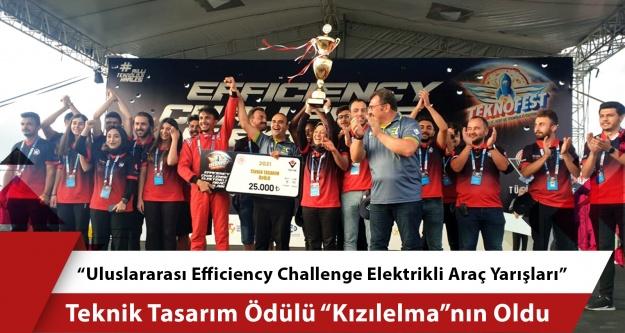 """Elektrikli Araç Yarışları"""" Teknik Tasarım Ödülü 'Kızılelma""""nın Oldu"""