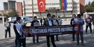 Fransa Cumhurbaşkanı Macron, Niğde 'de protesto edildi