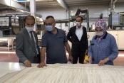 Milletvekili Gültekin Koyunlu Halı Yöneticilerini ve Fabrikasını ziyaret etti