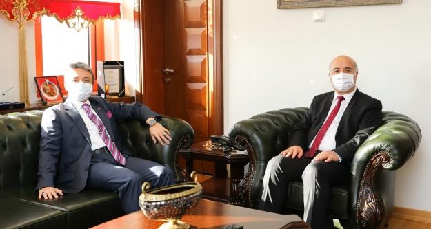 Cumhuriyet Başsavcısı Yeniçeri'den Rektör Kar'a ziyaret