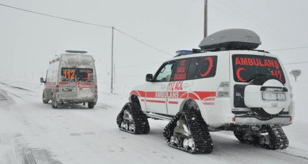 Paletli ambulans kışın hayat kurtarıyor